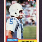 1981 Topps Football #277 Steve Mike-Mayer - Baltimore Colts ExMt