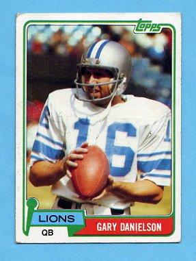 1981 Topps Football #274 Gary Danielson - Detroit Lions