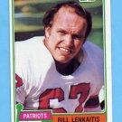 1981 Topps Football #268 Bill Lenkaitis - New England Patriots