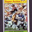 1981 Topps Football #267 John Jefferson SA - San Diego Chargers Ex