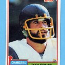 1981 Topps Football #265 Dan Fouts - San Diego Chargers NM-M