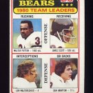 1981 Topps Football #264 Chicago Bears TL / Walter Payton / Dan Hampton Vg