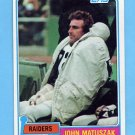 1981 Topps Football #255 John Matuszak - Oakland Raiders