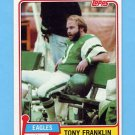 1981 Topps Football #227 Tony Franklin - Philadelphia Eagles