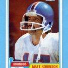 1981 Topps Football #223 Matt Robinson - Denver Broncos