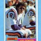 1981 Topps Football #217 Joe Senser - Minnesota Vikings