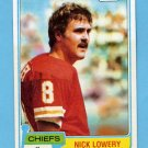 1981 Topps Football #213 Nick Lowery RC - Kansas City Chiefs NM-M