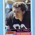 1981 Topps Football #200 Ted Hendricks - Oakland Raiders Vg