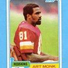 1981 Topps Football #194 Art Monk RC - Washington Redskins