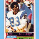 1981 Topps Football #190 John Jefferson - San Diego Chargers NM-M