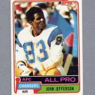 1981 Topps Football #190 John Jefferson - San Diego Chargers VgEx