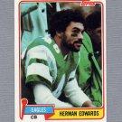 1981 Topps Football #179 Herman Edwards - Philadelphia Eagles ExMt