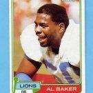 "1981 Topps Football #175 Al ""Bubba"" Baker - Detroit Lions"