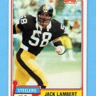 1981 Topps Football #155 Jack Lambert - Pittsburgh Steelers NM-M