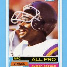 1981 Topps Football #140 Ahmad Rashad - Minnesota Vikings