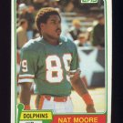 1981 Topps Football #136 Nat Moore - Miami Dolphins Vg