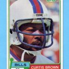 1981 Topps Football #133 Curtis Brown - Buffalo Bills