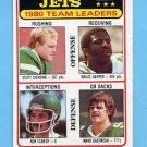 1981 Topps Football #132 New York Jets TL / Bruce Harper / Mark Gastineau