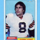1981 Topps Football #129 Johnny Evans - Cleveland Browns