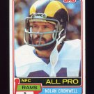 1981 Topps Football #120 Nolan Cromwell - Los Angeles Rams Vg