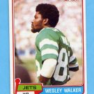 1981 Topps Football #118 Wesley Walker - New York Jets
