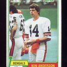 1981 Topps Football #115 Ken Anderson - Cincinnati Bengals VgEx
