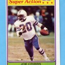 1981 Topps Football #103 Joe Cribbs SA - Buffalo Bills ExMt