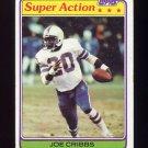 1981 Topps Football #103 Joe Cribbs SA - Buffalo Bills Vg