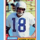 1981 Topps Football #087 Herman Weaver - Seattle Seahawks