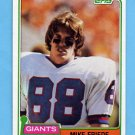 1981 Topps Football #074 Mike Friede - New York Giants