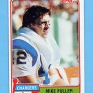 1981 Topps Football #067 Mike Fuller - San Diego Chargers