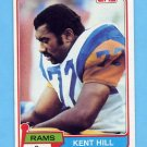 1981 Topps Football #062 Kent Hill - Los Angeles Rams