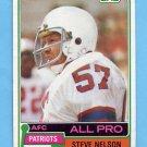 1981 Topps Football #060 Steve Nelson - New England Patriots