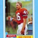1981 Topps Football #052 Dave Preston RC - Denver Broncos