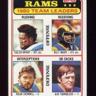 1981 Topps Football #039 Los Angeles Rams TL / Nolan Cromwell / Jack Youngblood Vg