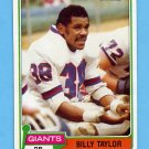 1981 Topps Football #034 Billy Taylor - New York Giants