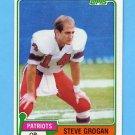 1981 Topps Football #025 Steve Grogan - New England Patriots