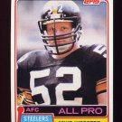 1981 Topps Football #010 Mike Webster - Pittsburgh Steelers