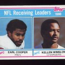 1981 Topps Football #002 NFL Receiving Leaders Earl Cooper / Kellen Winslow