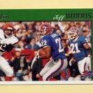 1997 Topps Football #109 Jeff Burris - Buffalo Bills