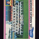 1981 Topps Baseball #679 Los Angeles Dodgers Team Checklist / Tom Lasorda MG
