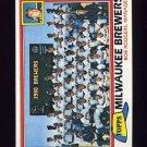 1981 Topps Baseball #668 Milwaukee Brewers Team Checklist / Bob Rodgers MG