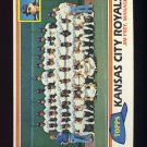 1981 Topps Baseball #667 Kansas City Royals Team Checklist / Jim Frey MG