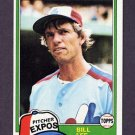 1981 Topps Baseball #633 Bill Lee - Montreal Expos
