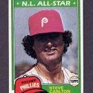 1981 Topps Baseball #630 Steve Carlton - Philadelphia Phillies VgEx