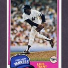 1981 Topps Baseball #627 Luis Tiant - New York Yankees ExMt