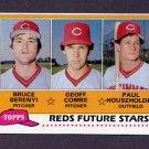 1981 Topps Baseball #606 Bruce Berenyi RC / Geoff Combe RC / Paul Householder RC - Cincinnati Reds