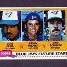 1981 Topps Baseball #577 Luis Leal RC / Brian Milner RC / Ken Schrom RC - Toronto Blue Jays