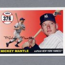 2006 Topps Baseball Mantle Home Run History #MHR376 Mickey Mantle - New York Yankees