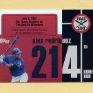 2007 Topps Baseball Alex Rodriguez Road To 500 #ARHR214 Alex Rodriguez - Texas Rangers